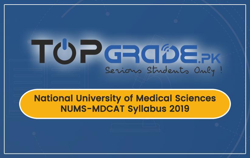 NUMS-MDCAT Syllabus 2019
