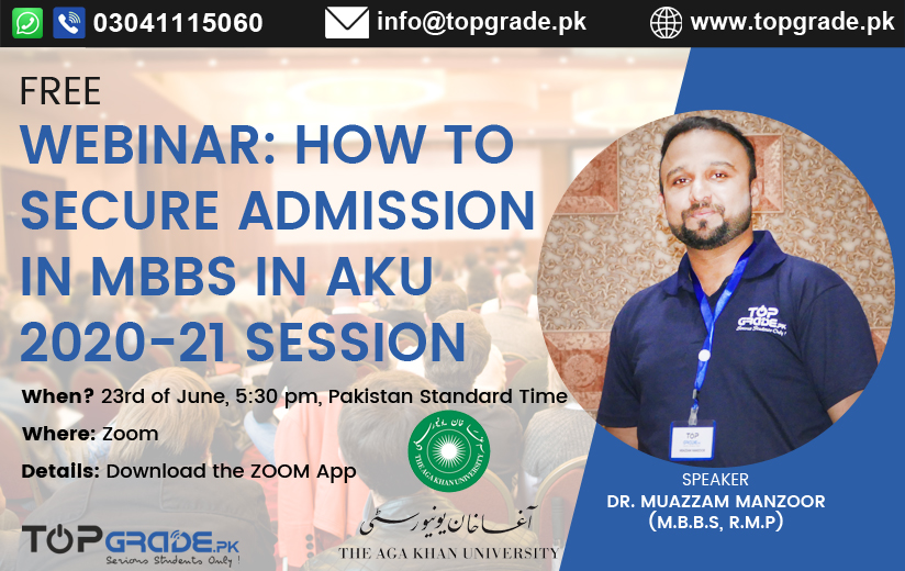 Admission in MBBS in AKU 2020