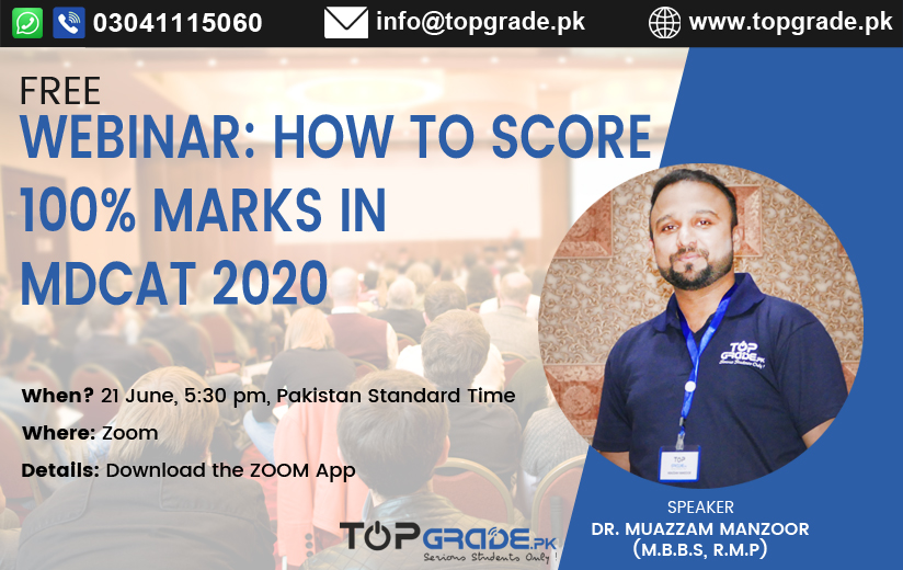 Webinar How to Score 100% Marks in MDCAT 2020