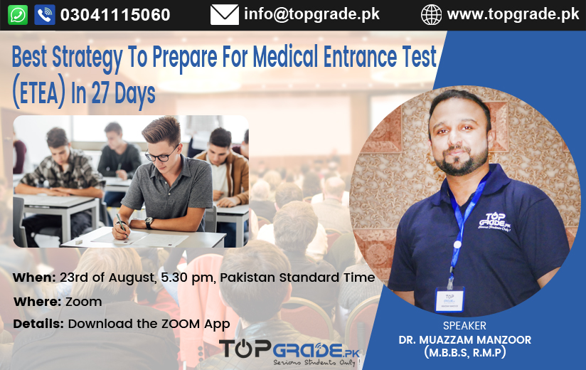 Best Strategy To Prepare For Medical Entrance Test (ETEA) In 27 Days